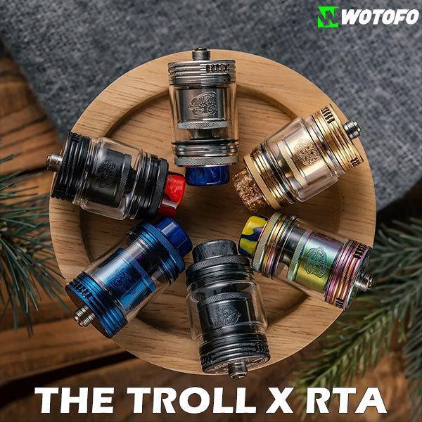 Wotofo ウォトフォ THE TROLL X RTA トロール エックス RTA vape アトマイザー RTA 直径24mm 爆煙 デュアル トロールX
