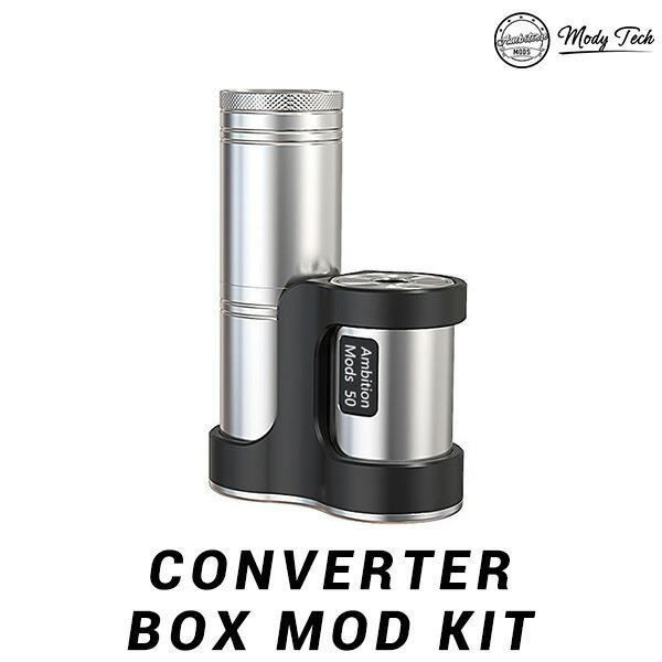 AmbitionMODS CONVERTER BOX MOD KIT アンビションモッド モッズ コンバーター モッド vape テクニカルMOD チューブ 18650 18350 ステルスMOD 予約販売