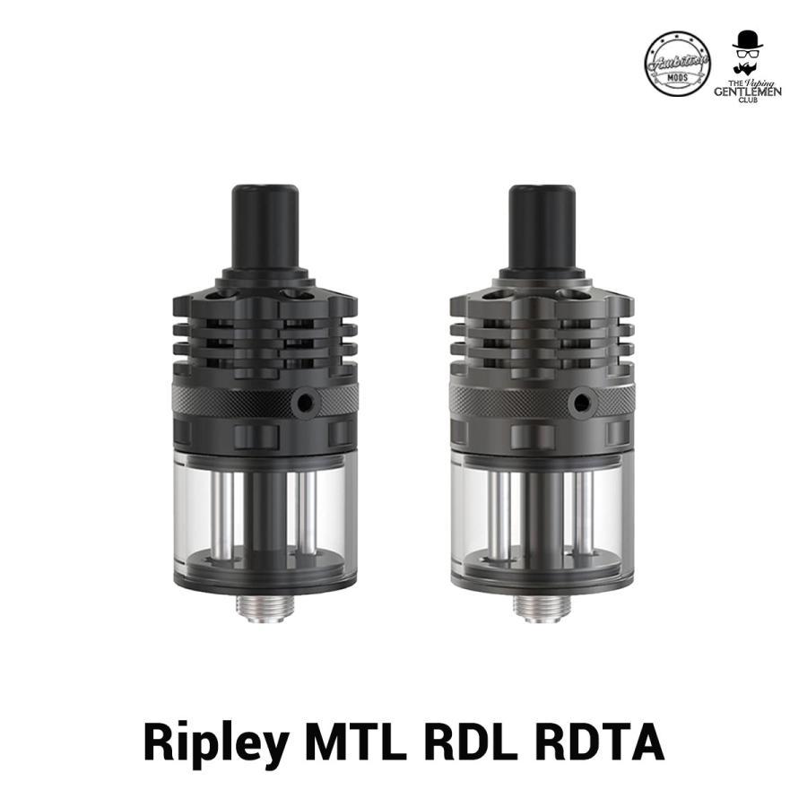 AmbitionMODS Ripley MTL RDL RDTA アンビションモッズ リプレイ RDTA リプリー 電子タバコ vape アトマイザー RBA RDTA 直径22mm シングルビルド リビルド 味重視 ハイエンド