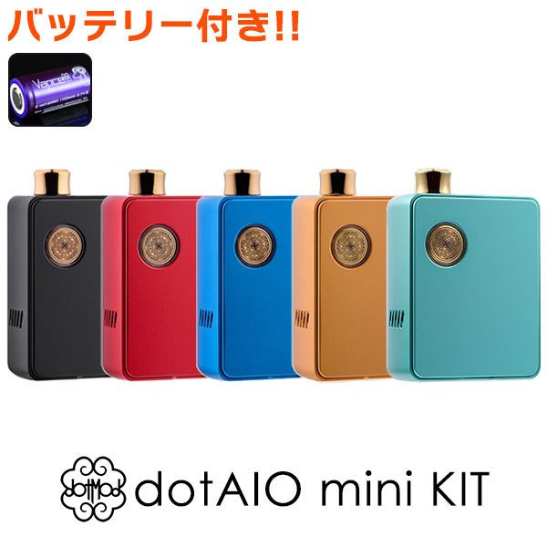 dotmod dotAIO mini ドットモッド ドットエーアイオー ミニ vape pod型 aio ポッド 18350 ドット エーアイオーミニ 予約販売