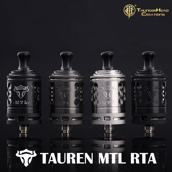 THC TAUREN MTL RTA タウレン 電子タバコ vape アトマイザー RTA MTL 味重視 510 シングル 直径 24mm サンダーヘッドクリエイションズ
