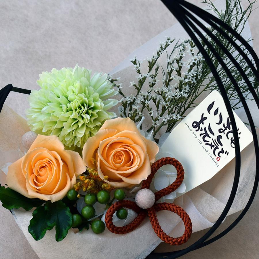 母の日プレゼントプリザーブドフラワー 和風アレンジ 雫(しずく)&スイーツセット(リングフィナンシェ) 母の日 花 ギフト 誕生日 お祝い|flavor|11
