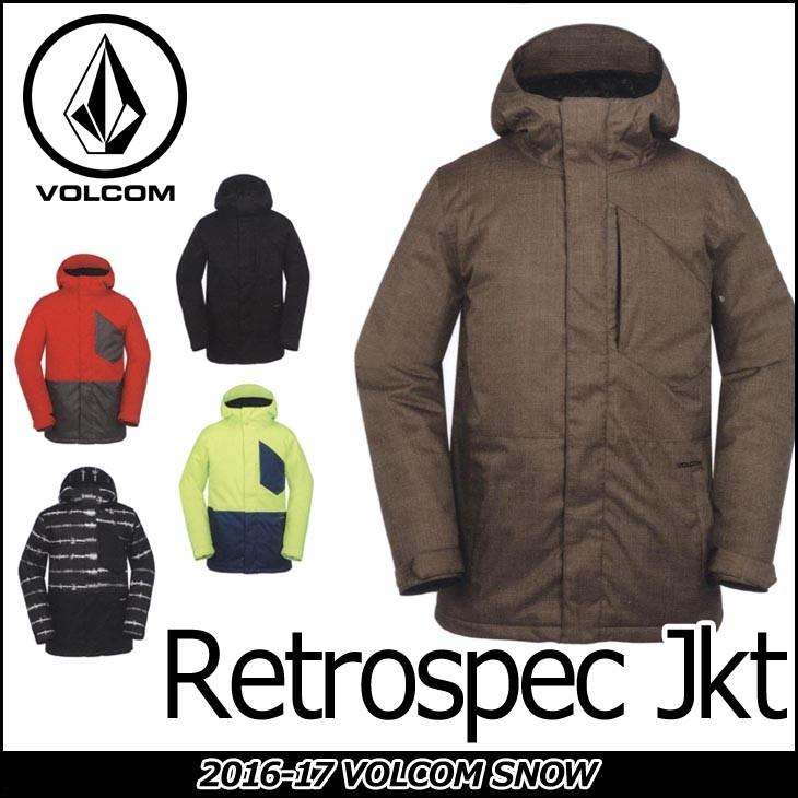 VOLCOM ボルコム スノー ボード ウェア 16-17 ジャケット スノーボード Retrospec Jkt/Jacket 日本正規品 【返品種別OUTLET】