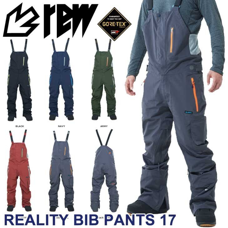 18-19 REW アールイーダブリュー REALITY BIB PANTS 17 GORE-TEX リアリティ ビブ パンツ ゴアテックス WEAR ウェアー