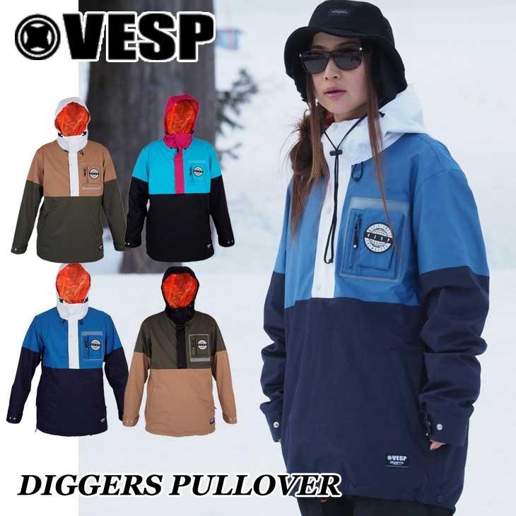 18-19 VESP ベスプ ウエア スノボー ジャケット DIGGERS PULLOVER VPMJ18-06