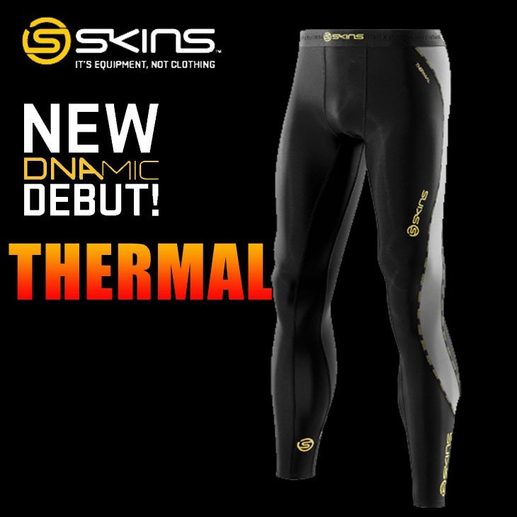 スキンズ メンズ サーマル ロングタイツ skins DNAmic コンプレッション 【正規品】【冬モデル】 【メール便不可】
