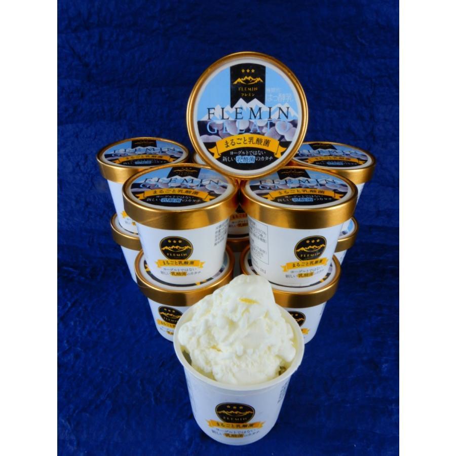 生きた乳酸菌ジェラート/魚沼のアイスクリーム/フレミン|子供用にも安心(卵不使用/卵アレルギー対応) 110ml×12個入 |flemin-spg