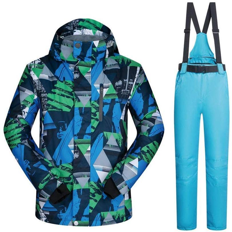 スキーボードウェア スキーサスペンダー 2点セット 上下セット スノーウェア ジャケット パンツ アウトドア メンズ 厚手 防水 防寒 大きいサイズ 01