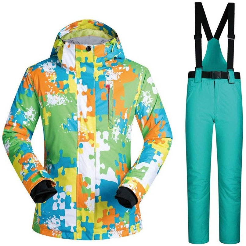 スキーボードウェア スキーサスペンダー 2点セット 上下セット スノーウェア ジャケット パンツ アウトドア メンズ 厚手 防水 防寒 大きいサイズ 02