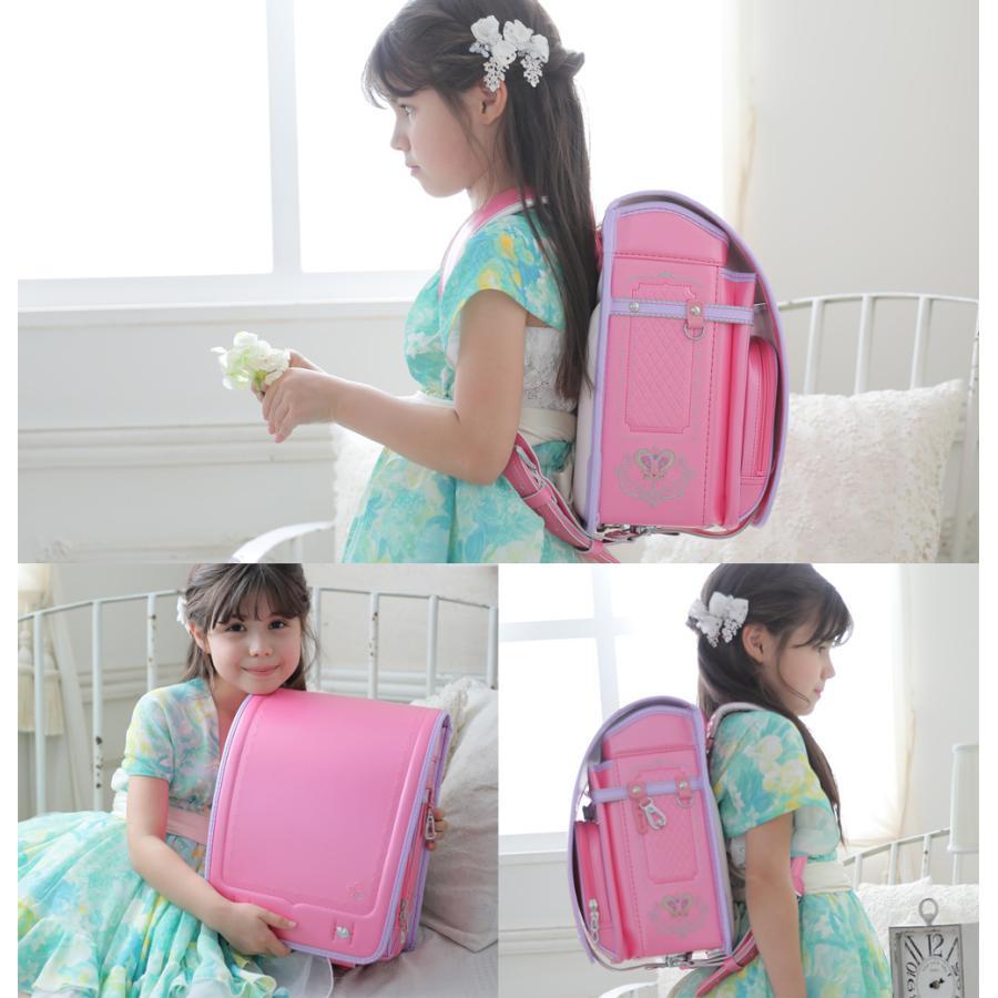 ランドセル 女 ピンク 茶色 6年保証 返品保証 クーロン 0014 / 女の子 おしゃれ かわいい 入学祝い 内祝い ピンク ブルー 可愛い 人気 水色 フロロ floro 06