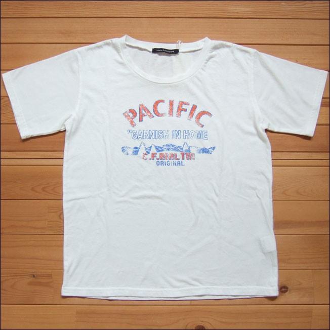 【メール便可】PAGEBOY ページボーイ プリントTシャツ ホワイト Tシャツ PACIFIC プリントT プルオーバー 半袖 カットソー クルーネック ロゴ|flossy