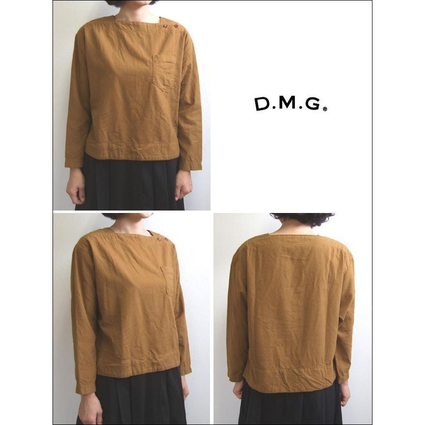 D.M.G ドミンゴ DMG 16-488T 38-5 スクエアネックシャツ  フランネル Flannel コットン ネル フラノ ブロンズ Made in JAPAN 日本製|flossy|02