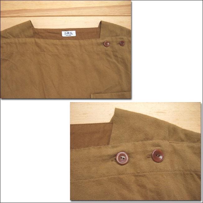 D.M.G ドミンゴ DMG 16-488T 38-5 スクエアネックシャツ  フランネル Flannel コットン ネル フラノ ブロンズ Made in JAPAN 日本製|flossy|03