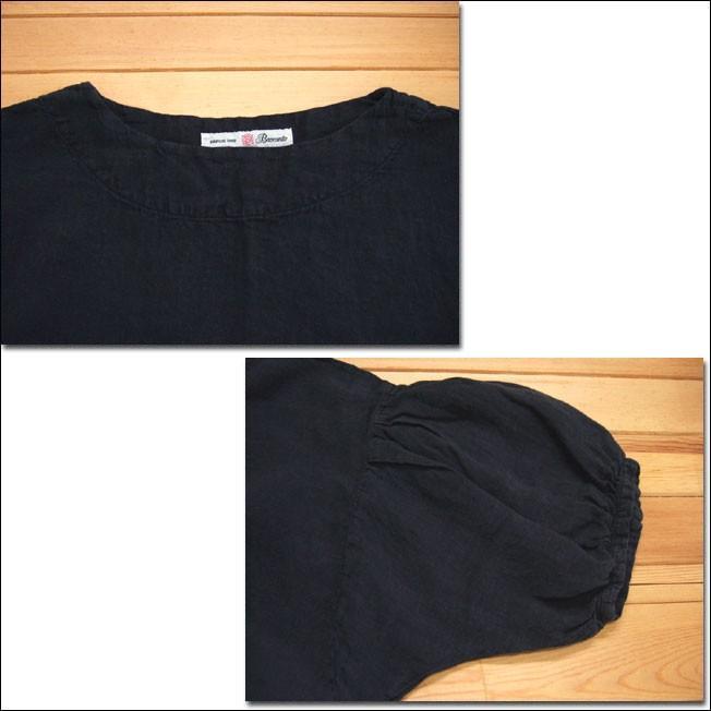 Brocante ブロカント ドミンゴ 37-148L 19-7 モンシェットワンピース ブラック 麻 リネンキャンバス リネン MadeinJAPAN 日本製|flossy|03