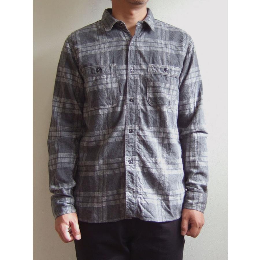 SPELLBOUND スペルバウンド ドミンゴ 46-158T 16-8 オーセンティックワークシャツ グレー チェックシャツ ネル 起毛 長袖  Made in JAPAN 日本製|flossy