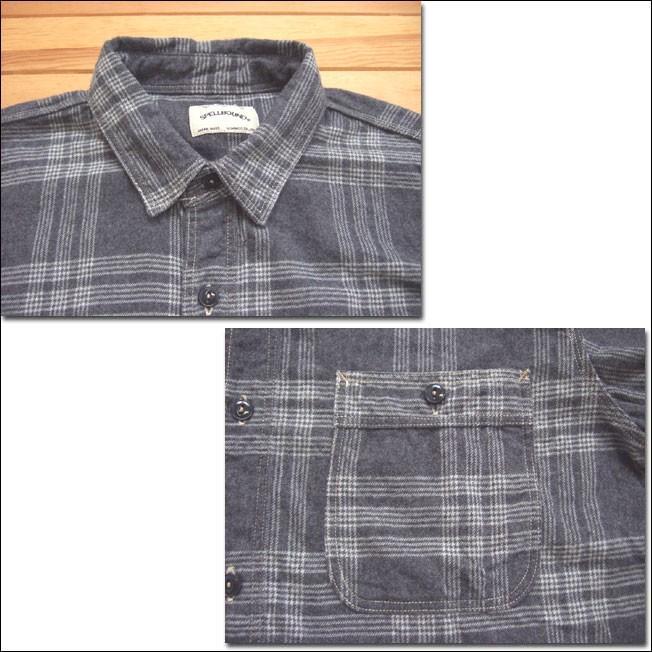 SPELLBOUND スペルバウンド ドミンゴ 46-158T 16-8 オーセンティックワークシャツ グレー チェックシャツ ネル 起毛 長袖  Made in JAPAN 日本製|flossy|03