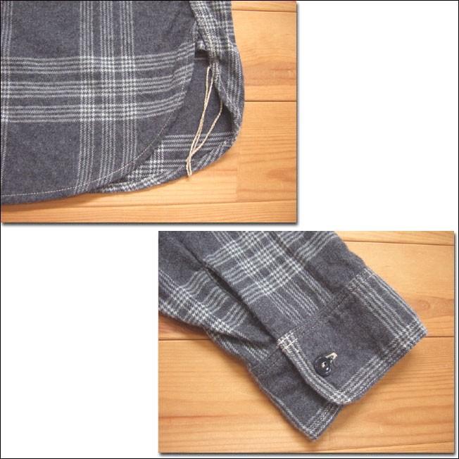 SPELLBOUND スペルバウンド ドミンゴ 46-158T 16-8 オーセンティックワークシャツ グレー チェックシャツ ネル 起毛 長袖  Made in JAPAN 日本製|flossy|04