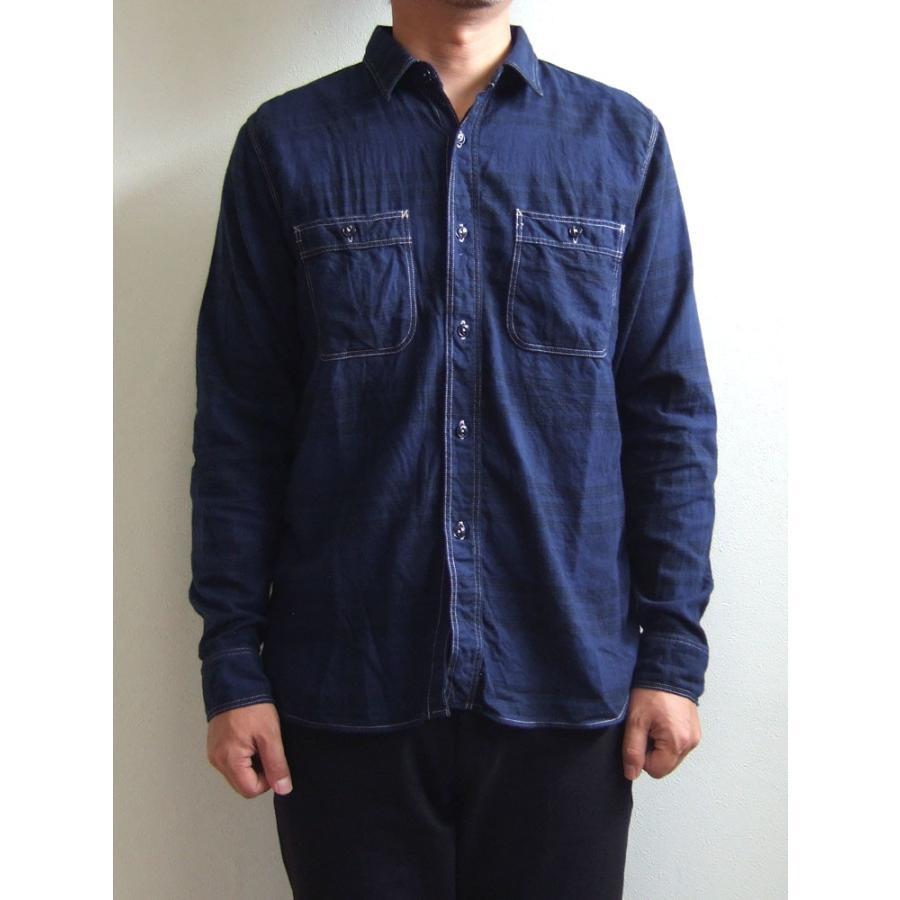 SPELLBOUND スペルバウンド ドミンゴ 46-158T 29-8 オーセンティックワークシャツ ネイビー チェックシャツ ネル 起毛 長袖  Made in JAPAN 日本製|flossy
