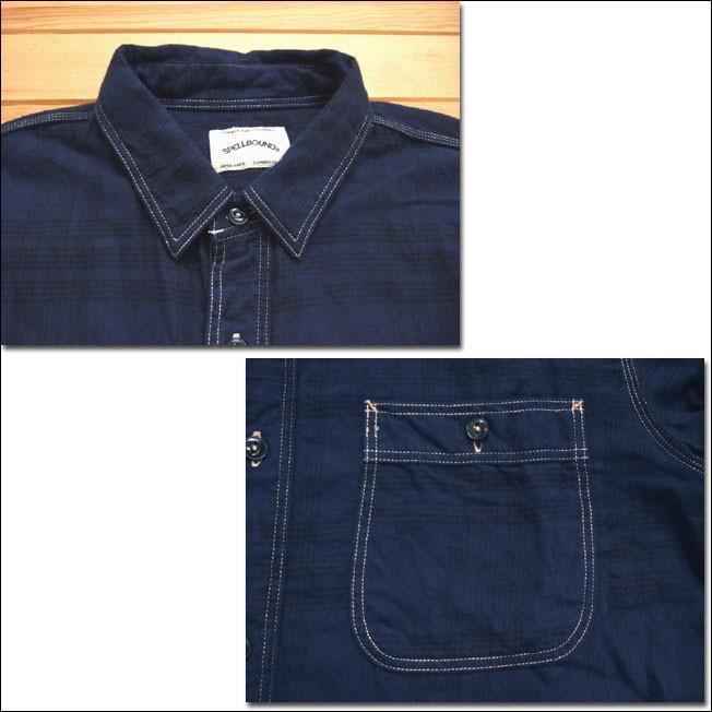 SPELLBOUND スペルバウンド ドミンゴ 46-158T 29-8 オーセンティックワークシャツ ネイビー チェックシャツ ネル 起毛 長袖  Made in JAPAN 日本製|flossy|03