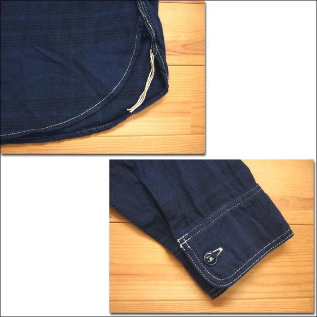 SPELLBOUND スペルバウンド ドミンゴ 46-158T 29-8 オーセンティックワークシャツ ネイビー チェックシャツ ネル 起毛 長袖  Made in JAPAN 日本製|flossy|04