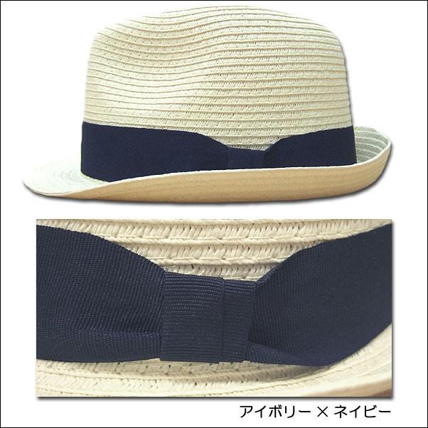 jou jou lier ブレードハット 中折れハット HAT ペーパー 帽子 男女兼用|flossy|02