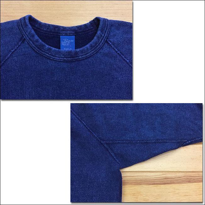 Good On グッドオン L/S RAGLAN CREW SWEAT SHIRTS ラグランクルースウェットシャツ スウェット トレーナー INDIGO SHAVE インディゴ 藍染め GOBW-101|flossy|02
