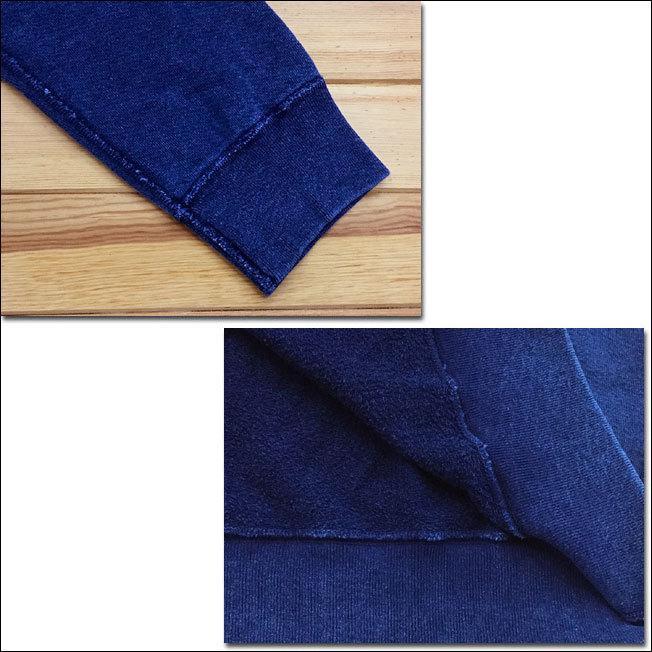 Good On グッドオン L/S RAGLAN CREW SWEAT SHIRTS ラグランクルースウェットシャツ スウェット トレーナー INDIGO SHAVE インディゴ 藍染め GOBW-101|flossy|03