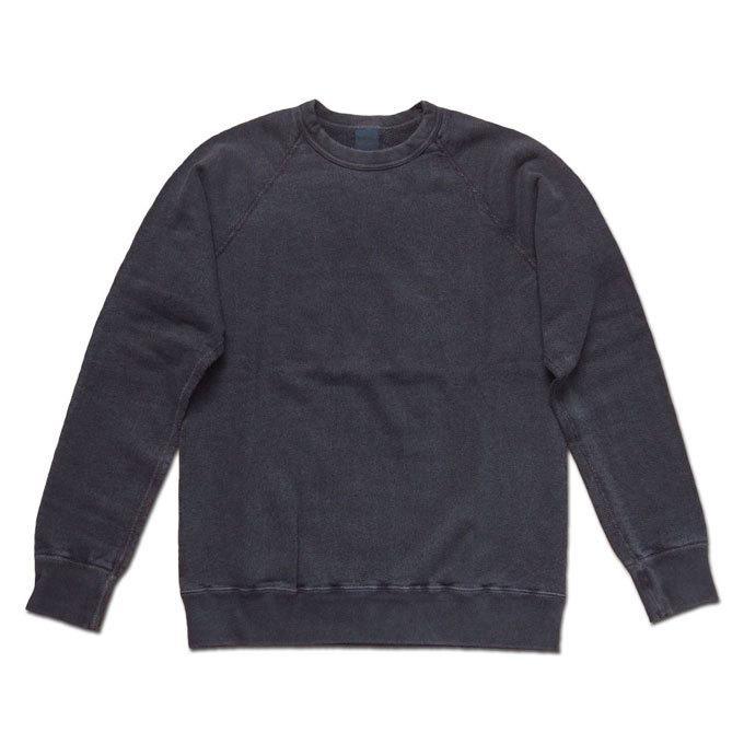 Good On グッドオン L/S RAGLAN CREW SWEAT SHIRTS ラグランクルースウェットシャツ スウェット トレーナー P-BLACK ブラック COTTONUSA|flossy