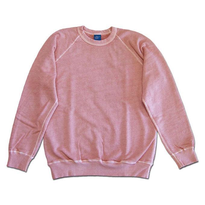 Good On グッドオン L/S RAGLAN CREW SWEAT SHIRTS ラグランクルースウェットシャツ スウェット トレーナー P-CORAL コーラルピンク COTTONUSA flossy
