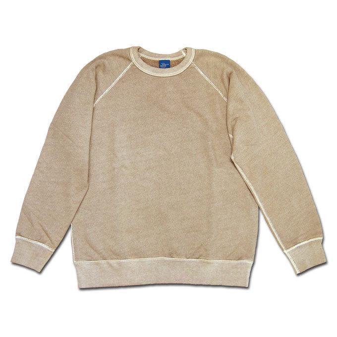 Good On グッドオン L/S RAGLAN CREW SWEAT SHIRTS P-LATTE ラテ ラグランクルースウェットシャツ スウェット トレーナー COTTONUSA GOBW-101|flossy