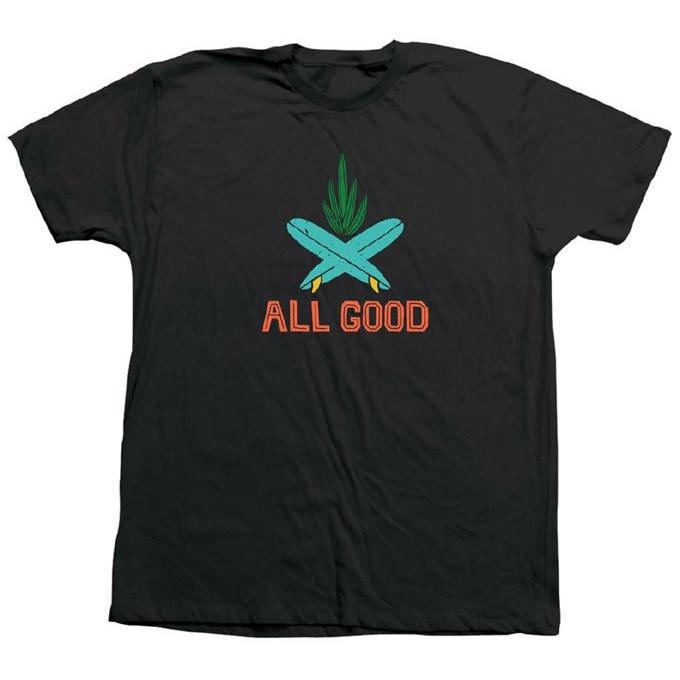 【メール便可】ALL GOOD オールグッド ROLLYN BAJA CACTI TEE Tシャツ カットソー 半袖 MadeinU.S.A. USA アメリカ製 SM18-0507|flossy