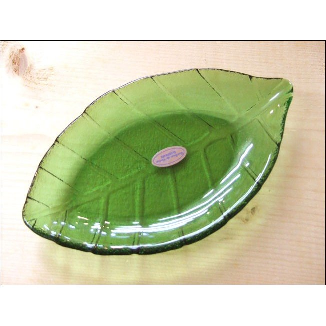 TOSSDICE トスダイス リーフガラストレイ (M) LEAF GLASS TRAY 皿 食器 ガラス 葉 キッチン|flossy