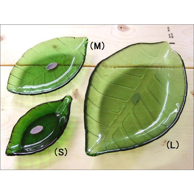 TOSSDICE トスダイス リーフガラストレイ (M) LEAF GLASS TRAY 皿 食器 ガラス 葉 キッチン|flossy|02