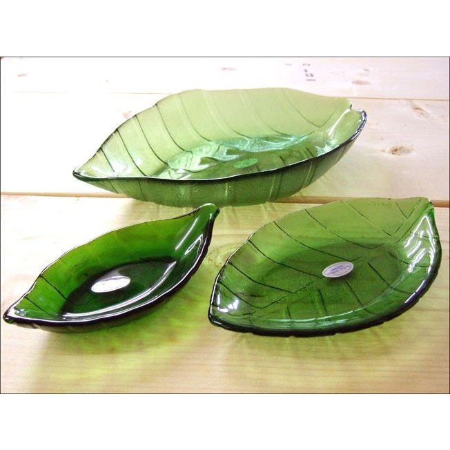 TOSSDICE トスダイス リーフガラストレイ (M) LEAF GLASS TRAY 皿 食器 ガラス 葉 キッチン|flossy|03