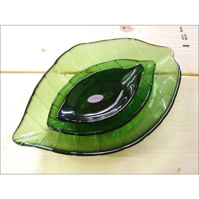 TOSSDICE トスダイス リーフガラストレイ (M) LEAF GLASS TRAY 皿 食器 ガラス 葉 キッチン|flossy|04
