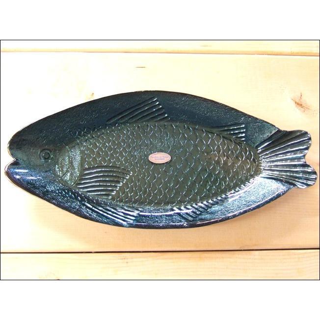 TOSSDICE トスダイス フィッシュガラストレイ (L) FISH GLASS TRAY 皿 食器 ガラス 魚 サカナ キッチン|flossy