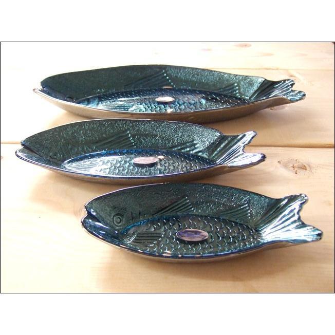 TOSSDICE トスダイス フィッシュガラストレイ (L) FISH GLASS TRAY 皿 食器 ガラス 魚 サカナ キッチン|flossy|03