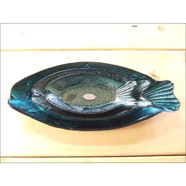 TOSSDICE トスダイス フィッシュガラストレイ (L) FISH GLASS TRAY 皿 食器 ガラス 魚 サカナ キッチン|flossy|04