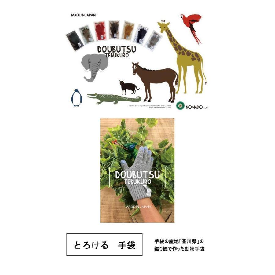 メール便可 SUNNY NOMADO サニーノマド 動物手袋 グローブ 防寒 スマートフォン対応 スマホ対応 メンズ レディース フリーサイズ 日本製 MadeinJAPAN flossy 02