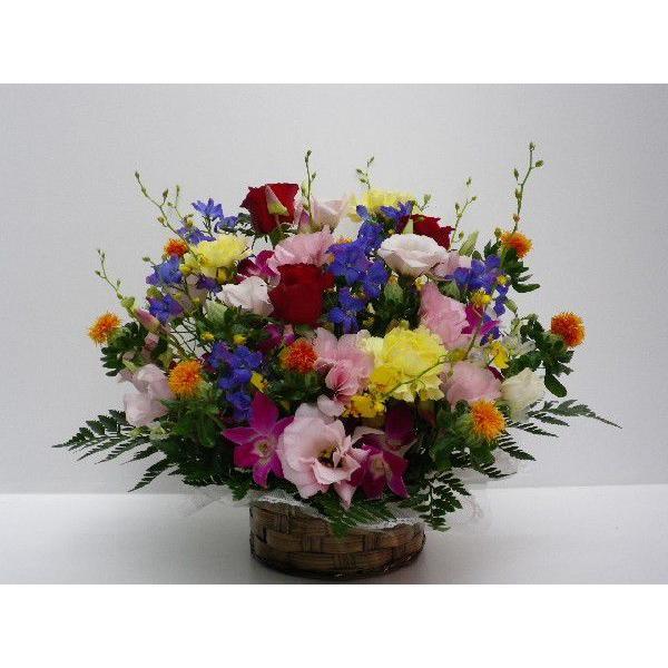 フラワーアレンジメント おまかせ フラワーギフト 花カゴ フラワーアレンジ|flower-8729|02