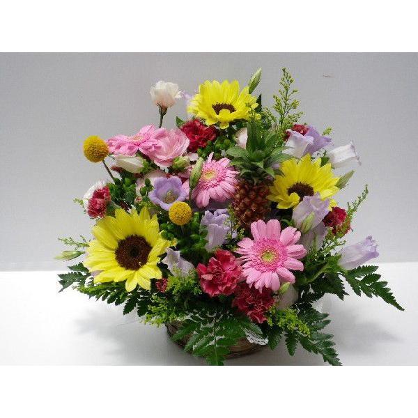 フラワーアレンジメント おまかせ フラワーギフト 花カゴ フラワーアレンジ|flower-8729|03
