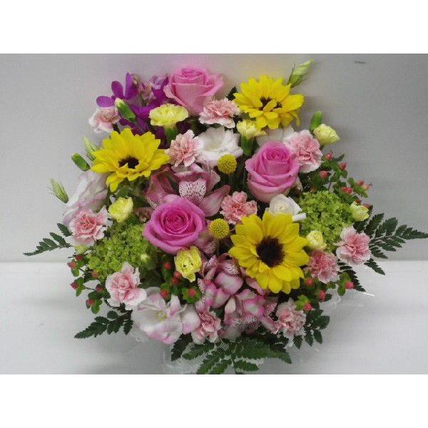 フラワーアレンジメント おまかせ フラワーギフト 花カゴ フラワーアレンジ|flower-8729|04