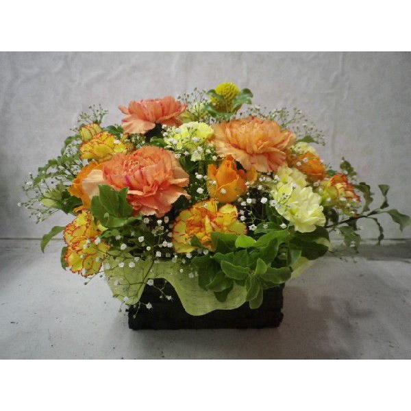 フタ付カゴのフラワーアレンジ flower-8729 04