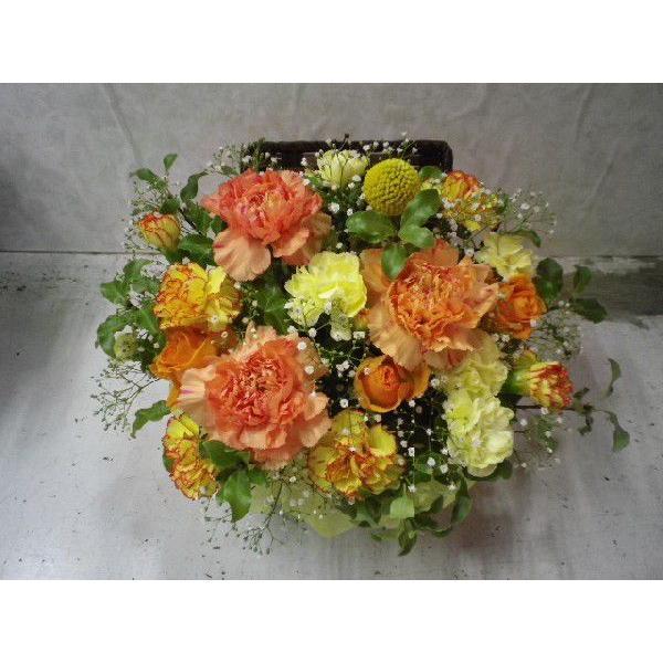 フタ付カゴのフラワーアレンジ flower-8729 05