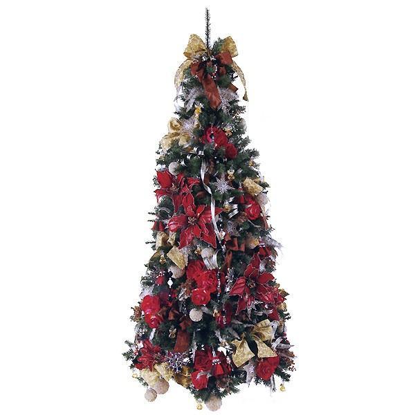 クリスマスツリーオーナメントセット・アウトレット レッドフラワーツリー