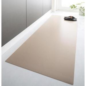 キッチンマット 拭ける ふける 撥水 はっ水 本革調 おしゃれ 日本製 / 長方形 60×300cm