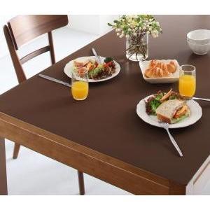 テーブルマット 拭ける ふける 撥水 はっ水 本革調 おしゃれ 日本製 / 長方形 120×150cm