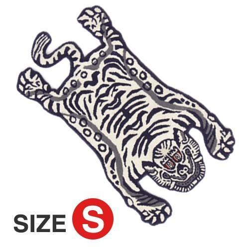 TIBETAN TIGER RUG WHITE SMALL (チベタン タイガー ラグ ホワイト スモール) 【送料無料】 【ポイント5倍】|flyers