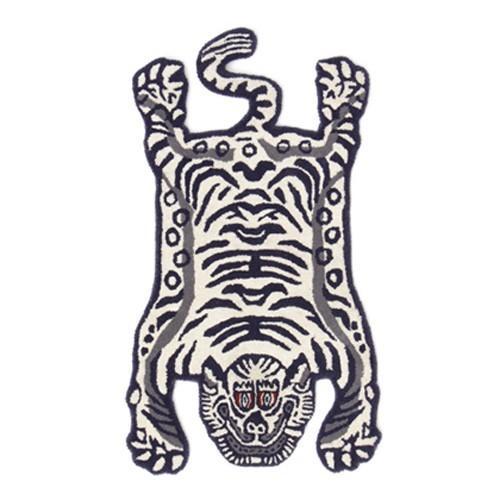 TIBETAN TIGER RUG WHITE SMALL (チベタン タイガー ラグ ホワイト スモール) 【送料無料】 【ポイント5倍】|flyers|02