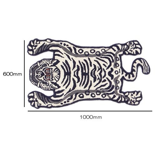 TIBETAN TIGER RUG WHITE SMALL (チベタン タイガー ラグ ホワイト スモール) 【送料無料】 【ポイント5倍】|flyers|03
